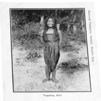 Tagalog Girl Postcard - Close Up