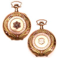 Chas Salick Hunting Pocket Watch - Case Front and Back