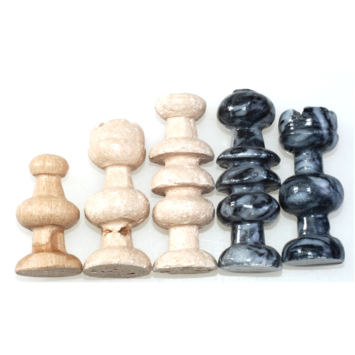 13 5 x13 5 hand carved marble and stone chess set ebay - Granite chess pieces ...