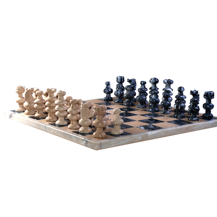13 5 x13 5 hand carved marble and stone chess set collect - Granite chess set ...