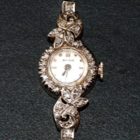 Bulova White Gold Ladies Wrist Watch - Face