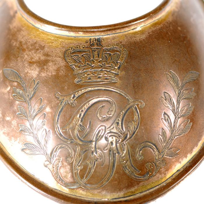 British Officer S Gorget 1796 Model Brass Gilt Gorget