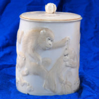 Ivory Box with Monkeys - Outside