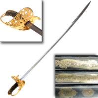 1859 Swedish Officer's Sword - Sword with Details
