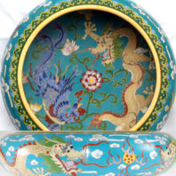 Dragon and Phoenix Cloisonne Bowl - Center and Side