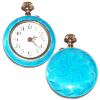 Ladies Guilloché Pocket Watch - Face and Back