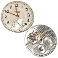 Waltham 17j 12s Premier Openface Movement - Front and Back