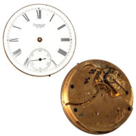 Waltham 14s 11j Openface Movement - Front and Back