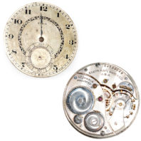 Elgin 12s 17j Openface Movement - Front and Back