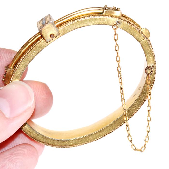 1920s Gold Bracelet - Side