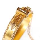 1920s Gold Bracelet - Top Angle