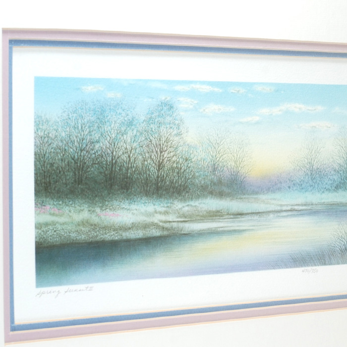 "Alaniz ""Spring Sunset II"" Lithograph - Left Side"