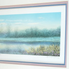 """Alaniz """"Spring Sunset II"""" Lithograph - Right Side"""