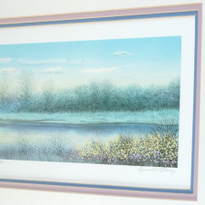 "Alaniz ""Spring Sunset II"" Lithograph - Right Side"
