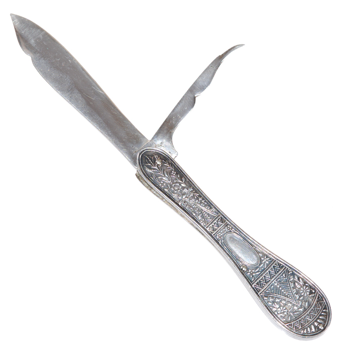 Decorative Pocket Fruit Knife with Seed Pick - Back