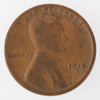 1913 D Lincoln Cent - Wheat Penny Obverse