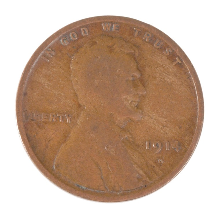 1914 D Lincoln Cent - Wheat Penny Obverse