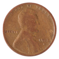 1915 D Lincoln Cent - Wheat Penny Obverse